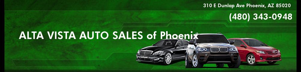 ALTA VISTA AUTO SALES of Phoenix. (480) 343-0948