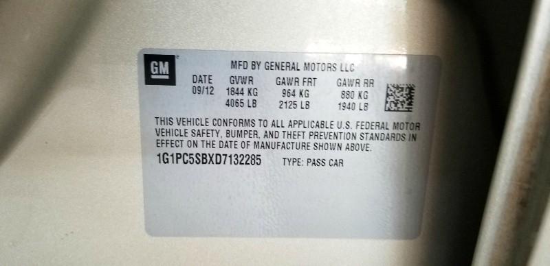 Chevrolet Cruze 2013 price $5,950 Cash