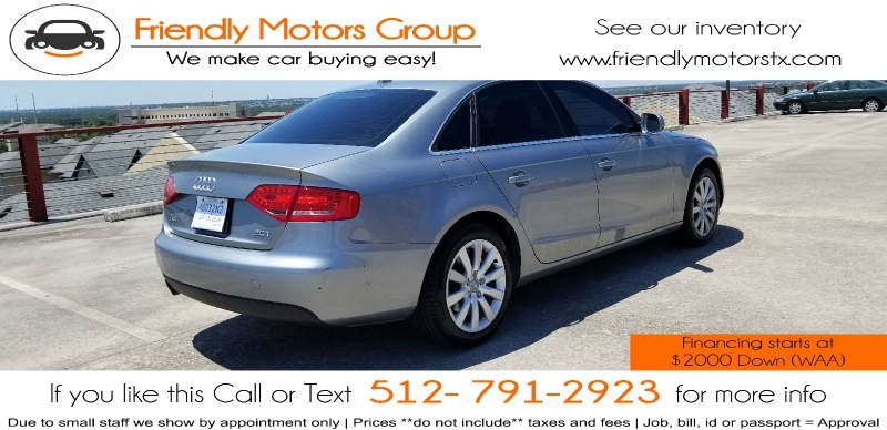 Audi A4 2011 price $6,950 Cash