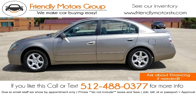 Nissan Altima 2005 price $3,450 Cash