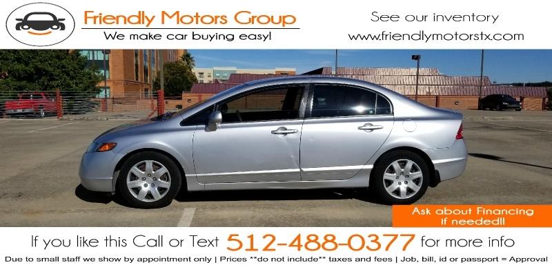 Honda Civic Sdn 2008 price $5,950 Cash