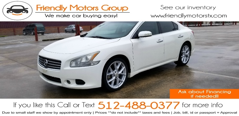 Nissan Maxima 2009 price $5,950 Cash