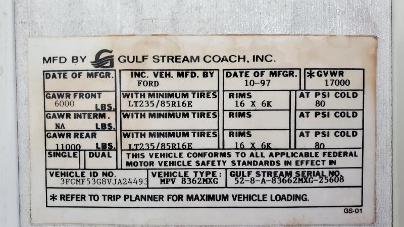Gulf Stream Sun Voyager 1997 price $13,495