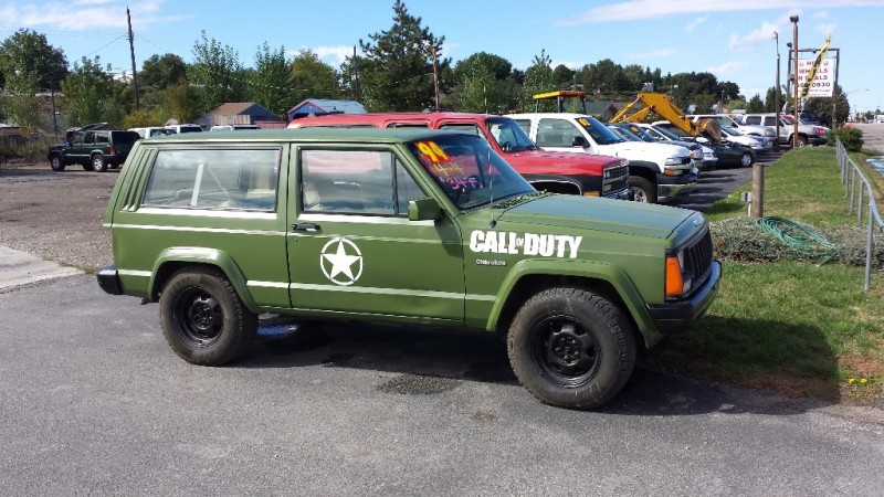 Jeep Certified Pre Owned >> 1994 Jeep Cherokee 2dr 4x4 Custom ARMY CALL of DUTY ARMY HUNTING - Inventory | Hot Wheels N ...