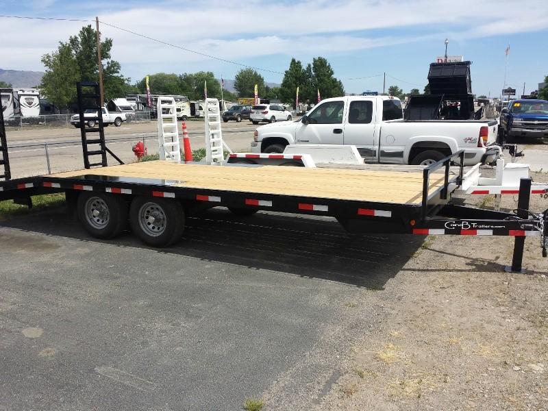 2018 C Amp B 20ft Deck Over Dovetail Flatbed Trailer