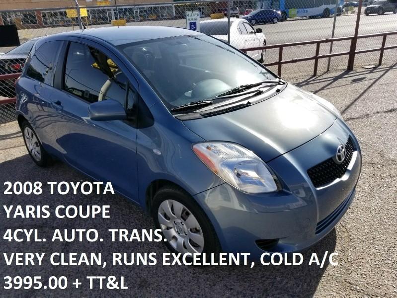 Toyota Dealership El Paso Tx >> 2008 Toyota Yaris 3dr HB Auto - Inventory | Triangle ...