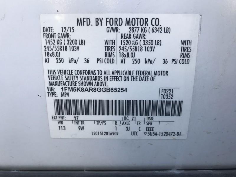 FORD EXPLORER 2016 price $14,900