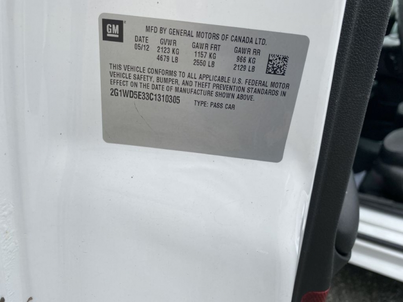 CHEVROLET IMPALA 2012 price $8,100 Cash