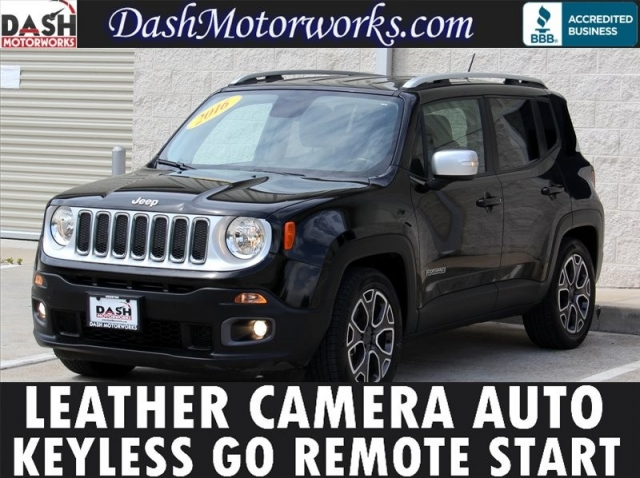 2016 Jeep Renegade Limited Leather Keyless Go Camera Houston Best