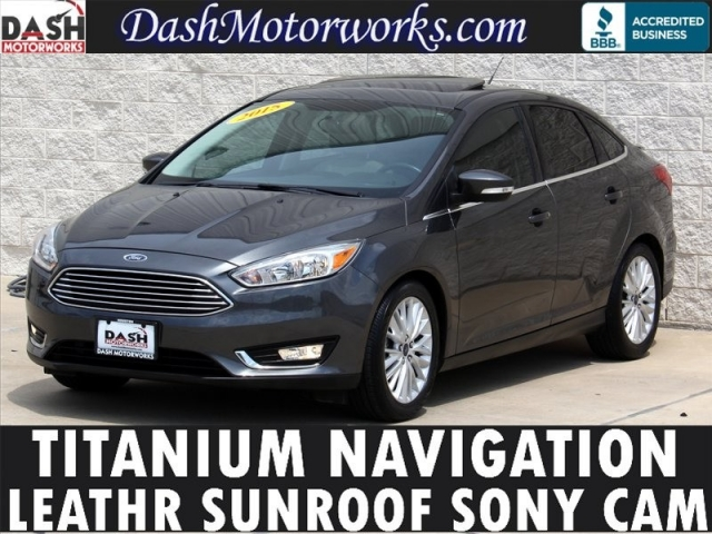 2015 Ford Focus Titanium Navigation Moonroof Camera Sony Lea
