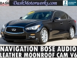 Infiniti Q50 Premium Navigation Leather Sunroof Bose 2014