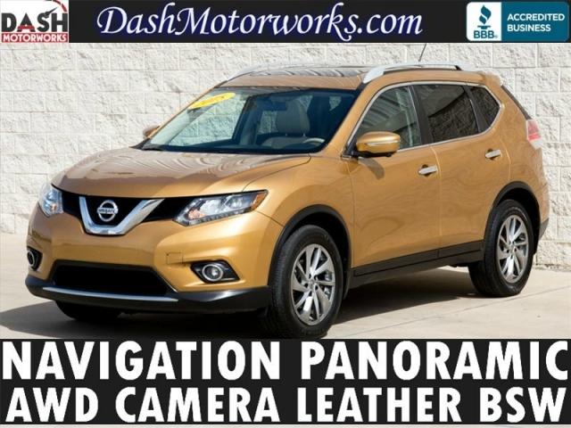 2015 Nissan Rogue SL AWD Navigation Panoramic Leather