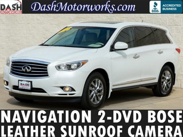 2013 Infiniti JX35 AWD Navigation Bose 2-DVD Camera Sunroof