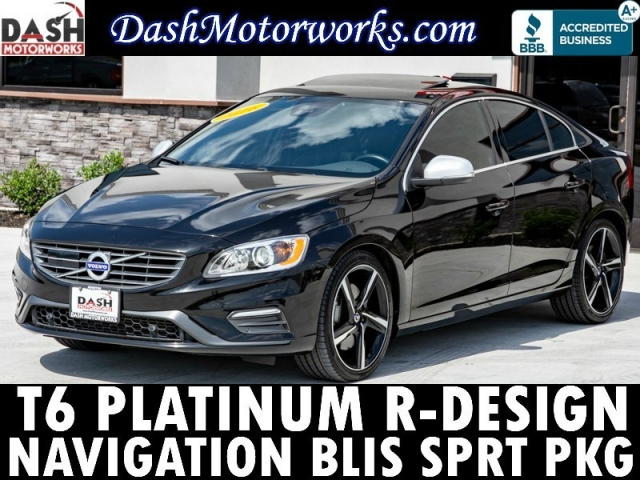 2016 Volvo S60 T6 R-Design Platinum AWD Navigation Sport Pkg