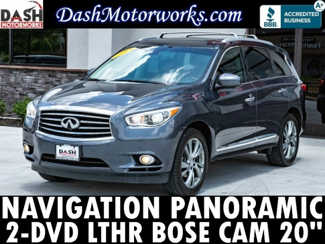 2013 Infiniti JX35 Navigation Panoramic DVD Bose Camera