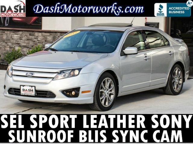 2012 Ford Fusion SEL V6 Sport Camera Leather Sony Auto