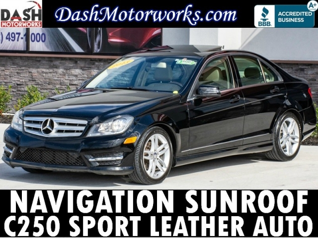 2013 Mercedes-Benz C-Class C250 Sport Sedan Navigation Leather Moonro
