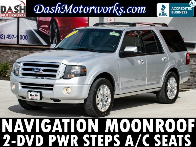 2012 Ford Expedition Limited Navigation 2-DVD Camera Leather