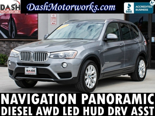 2015 BMW X3 xDrive28d Navigation Panoramic Camera Leather L