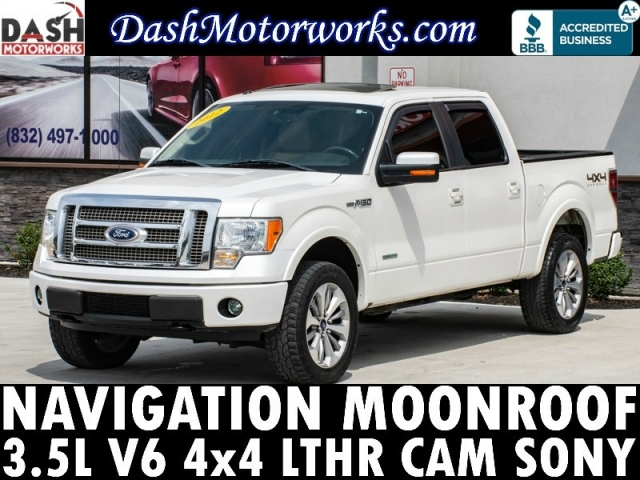 2012 Ford F-150 Lariat 4x4 SuperCrew Navigation Sunroof EcoB