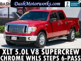 Ford F-150 XLT SuperCrew Chrome Wheels Steps V8 Auto 2011