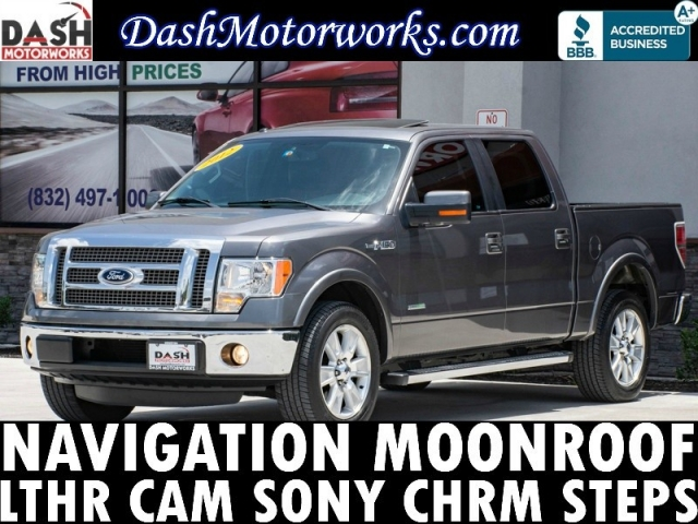 2012 Ford F-150 Lariat EcoBoost SuperCrew Navigation Sunroof