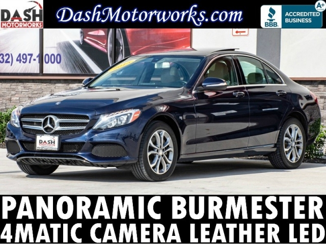 2015 Mercedes-Benz C300 4Matic Panoramic Burmester Camera Leather