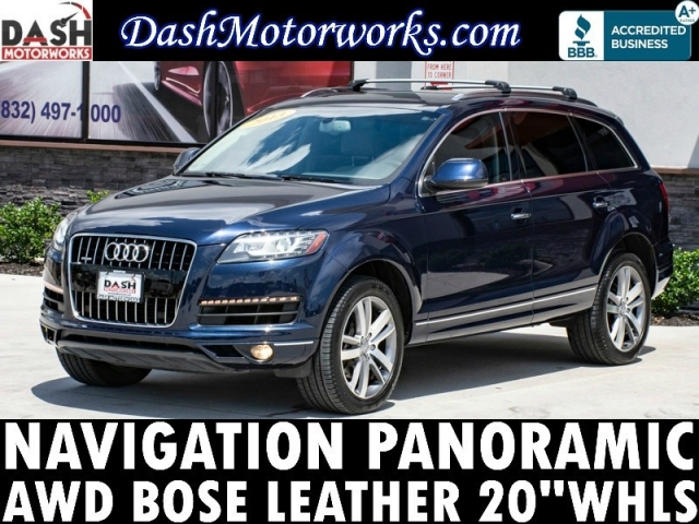 2013 Audi Q7 3.0T Premium Plus Navigation Panoramic Bose Lea