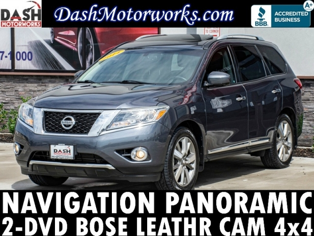 2014 Nissan Pathfinder Platinum Navigation DVD Camera Bose Lea