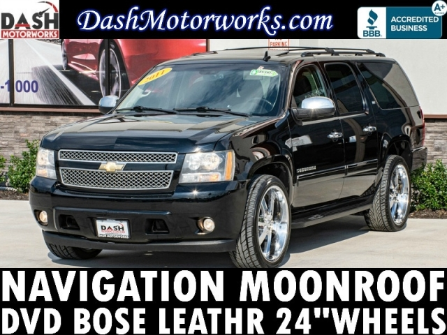 2011 Chevrolet Suburban LTZ Navigation Camera DVD Leather 24in Wh