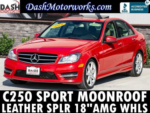 2014 Mercedes-Benz C250 Sport Sedan Sunroof Leather Spoiler AMG Wheel