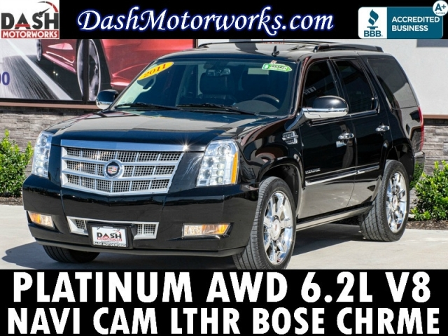 2011 Cadillac Escalade Platinum AWD Navigation DVD Sunroof Camer