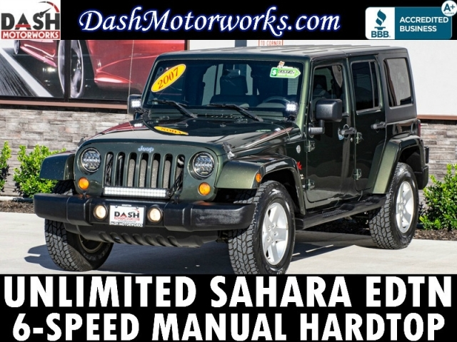 2007 Jeep Wrangler Unlimited Sahara Hardtop LED 6MT