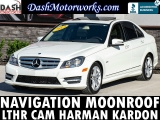 Mercedes-Benz C250 Sport Sedan Navigation Camera Moonroof Leathe 2012
