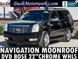 Cadillac Escalade 6.2L Navigation Camera Sunroof DVD Leathe 2007