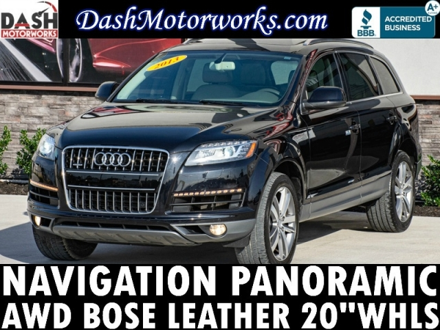 2013 Audi Q7 3.0T Premium Plus Navigation Panoramic Bose