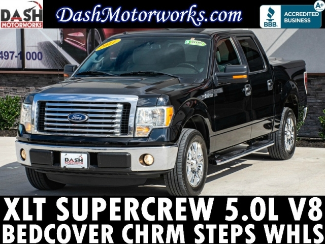 2011 Ford F-150 XLT SuperCrew BedCover Chrome Steps Wheels
