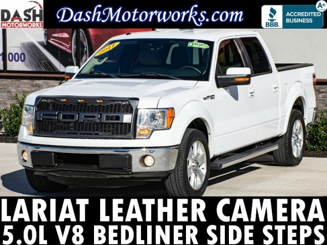 2011 Ford F-150 Lariat SuperCrew V8 Leather Camera Steps Bed