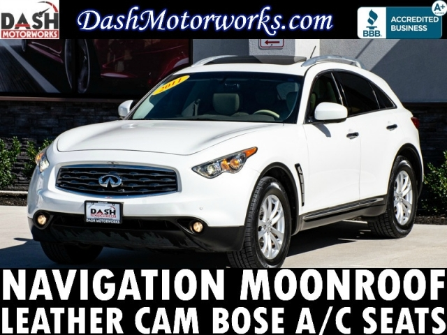 2011 Infiniti FX35 Navigation Sunroof Camera Leather Bose Cooled
