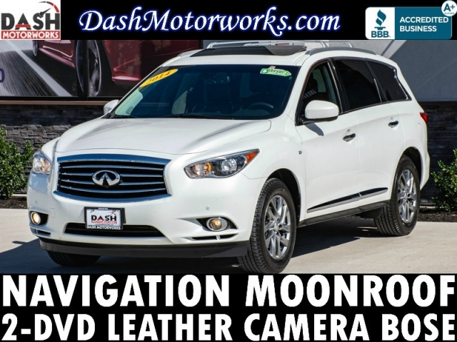 2014 Infiniti QX60 Navigation 2-DVD Sunroof Camera Bose Leather