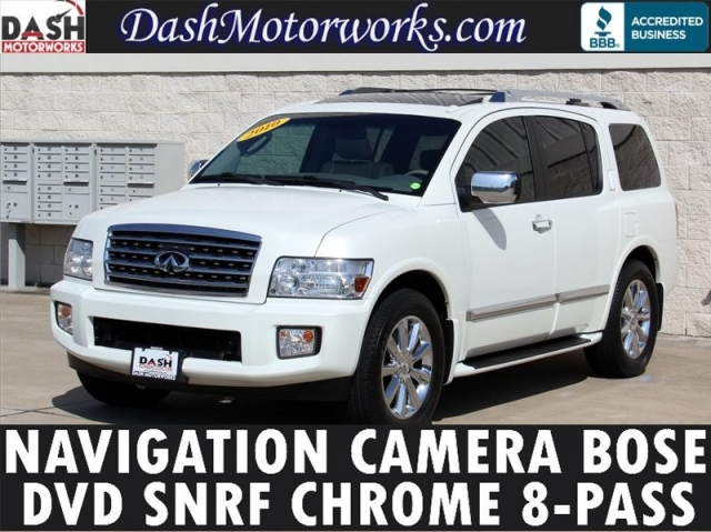 2010 Infiniti QX56 Navigation Bose Leather Moonroof 8-Pass