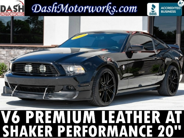 2013 Ford Mustang V6 Premium Pony Leather Shaker Auto