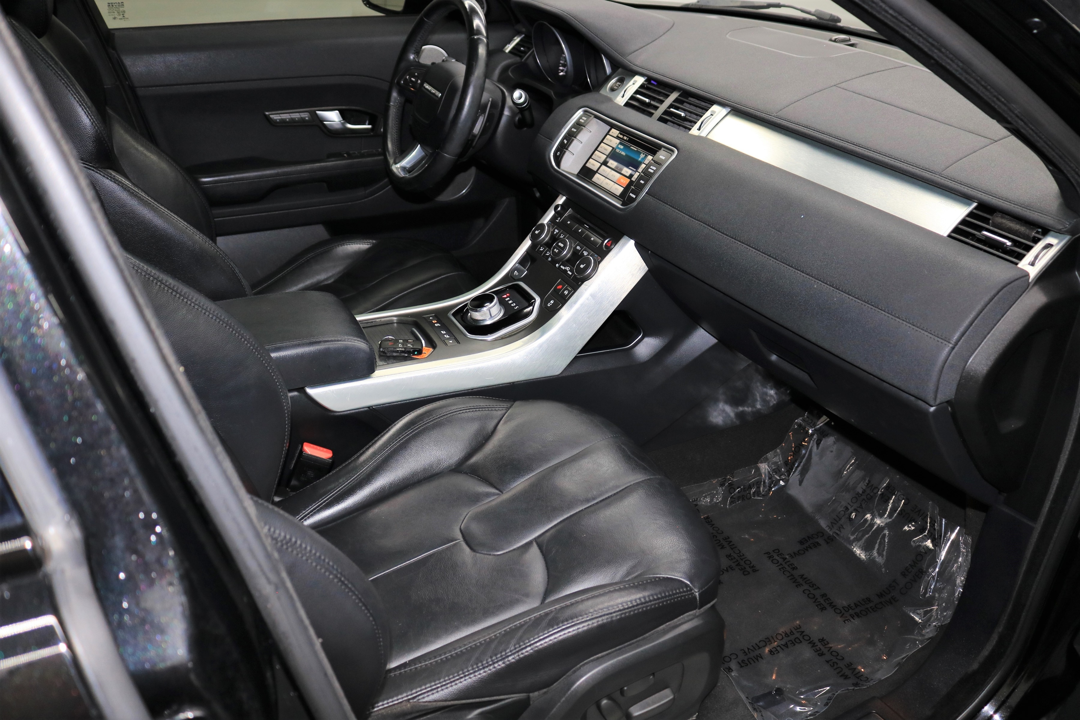 Black Leather Look Car Seat Covers Cover Set For Range Rover Evoque 5DR 2011 On