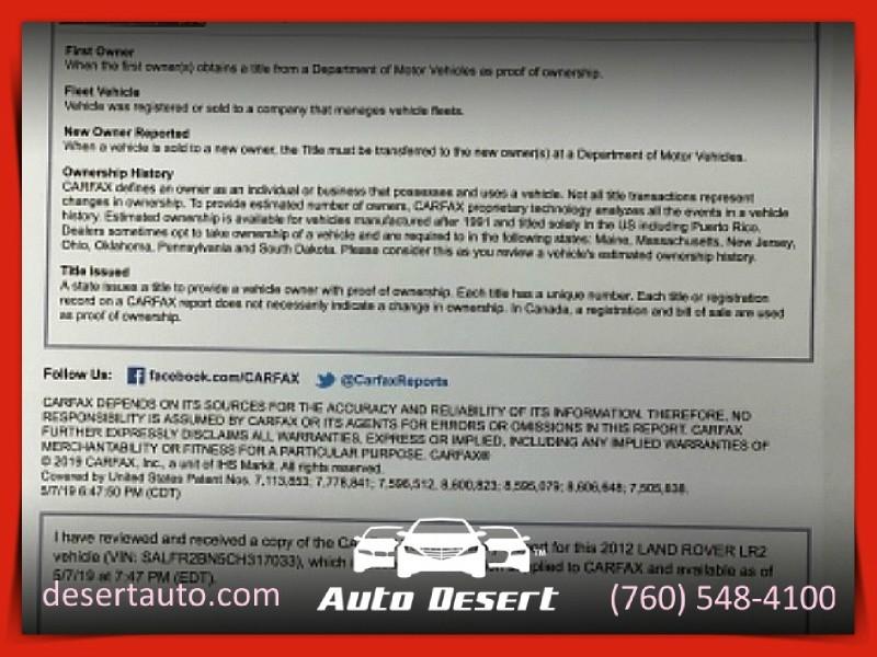 Land Rover LR2 panoramic sunroof GPS 2012 price $13,188