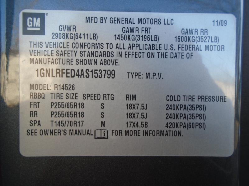 Chevrolet Traverse 2010 price $7,499