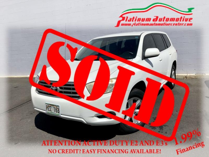 Toyota Highlander 2009 price $0