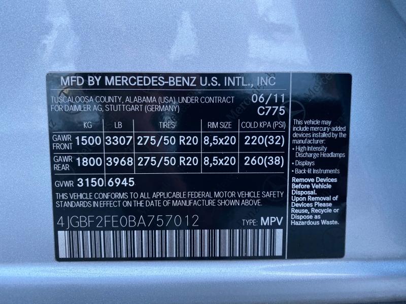 Mercedes-Benz GL-Class 2011 price $16,750