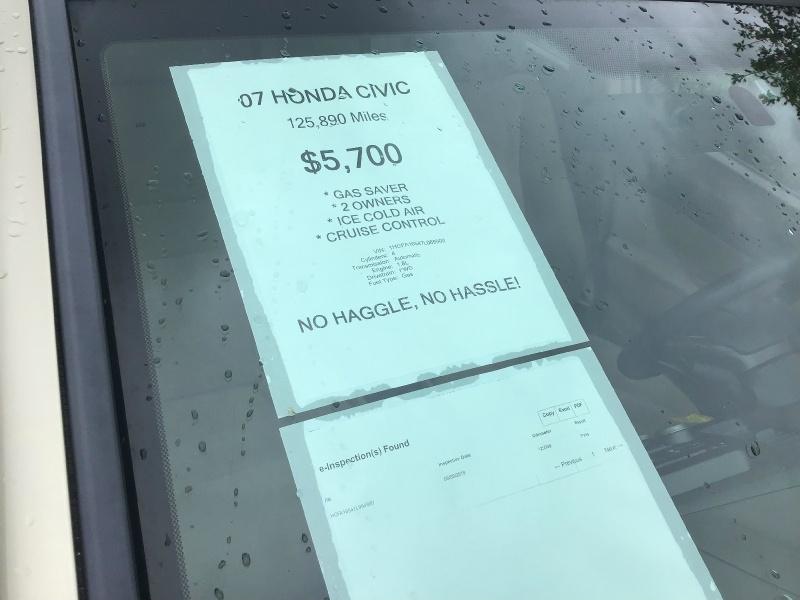 Honda Civic Sedan 2007 price $5,490