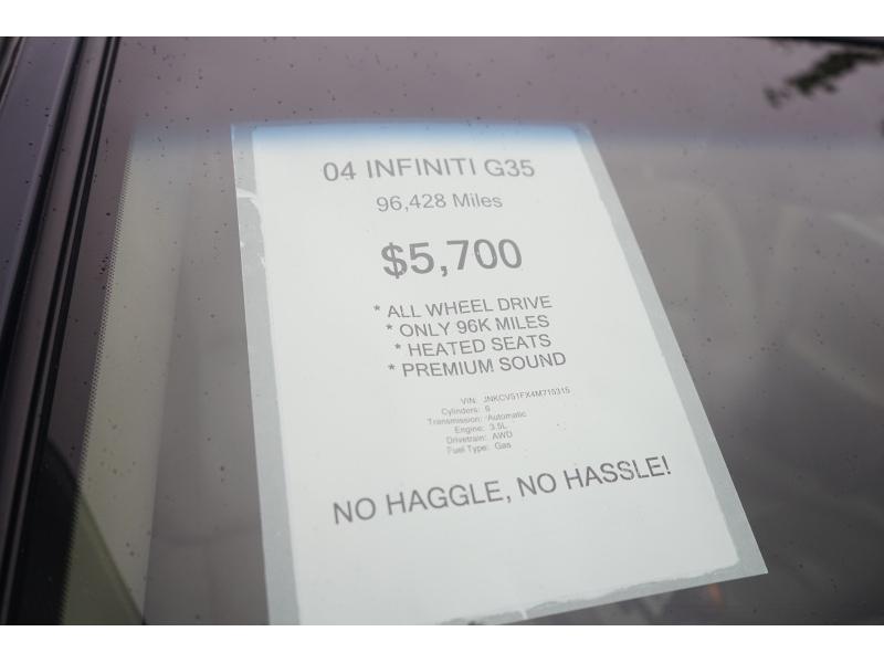 Infiniti G 35 2004 price $4,990
