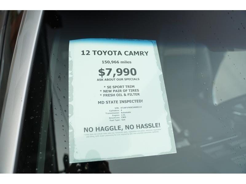 Toyota Camry 2012 price $7,990